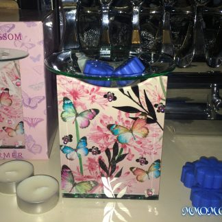 Pink Mirror Butterfly Oil Warmer