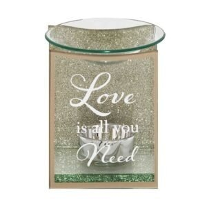 Gold Glass Love Is All You Need Oil Burner