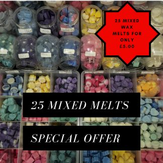 25 Mixed Wax Melts