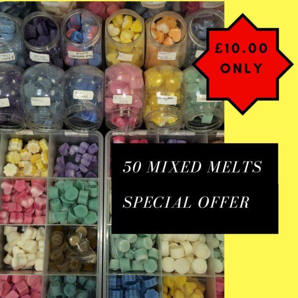 50 Mixed Wax Melts