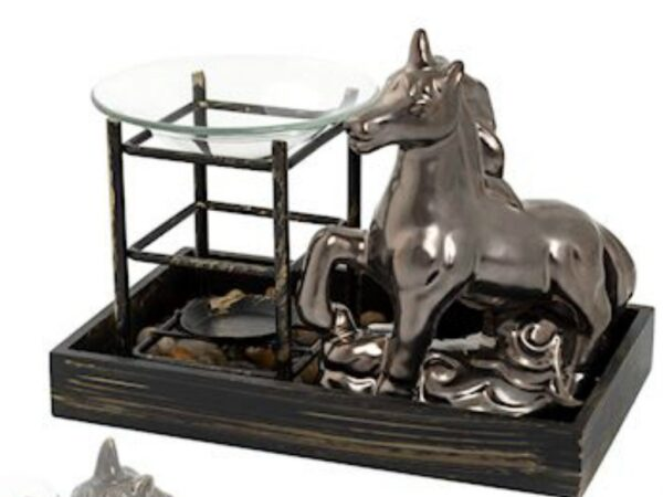 Bronze Unicorn Tray Oil Burner