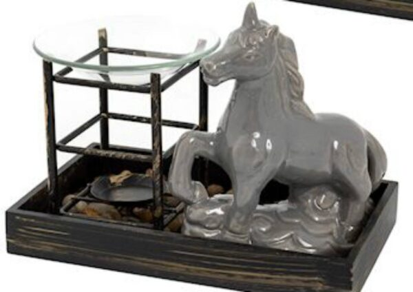 Grey Unicorn Tray Oil Burner