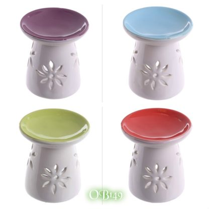 Ceramic Round Top Melt Burner with Flower Cutout