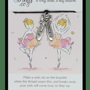 Wishstring Ballet Shoes Ballerina Bracelet