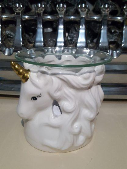 White Unicorn Head Left