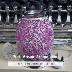 LP45322 Pink Mosaic Aroma Lamp