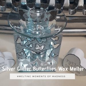 Silver Butterflies Wax Melter