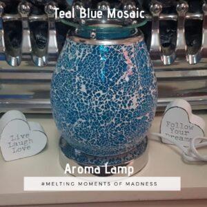 Teal Mosaic Aroma Lamp