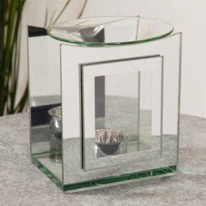 Hestia Double Layered Glass Oil Burner