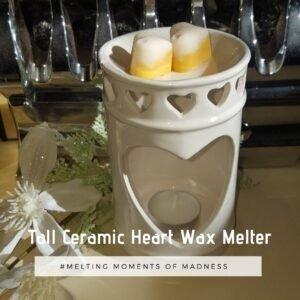 Tall Ceramic Heart Wax Melter