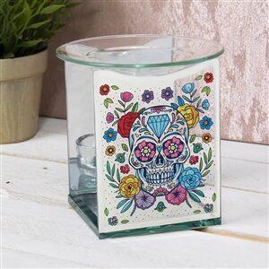 Floral Skull Wax Melter